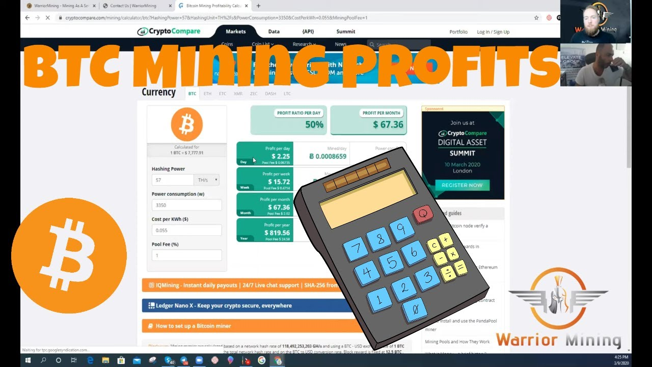 How To Calculate Bitcoin Mining Profitability - Innosilicon T3 57TH BTC Miner Profitability