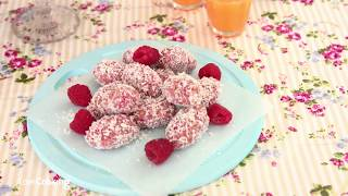 Healthier Treats For Kids: Raspberry & Coconut Eggs