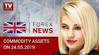 InstaForex tv news: 24.05.2019: Oil falls to its 2-months low, RUB remains firm (Brent, RUB, USD)