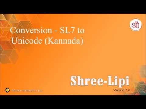 Conversion - SL7 to Unicode (Kannada)