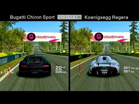 Real Racing 3 Bugatti Chiron Sport Vs Koenigsegg Regera