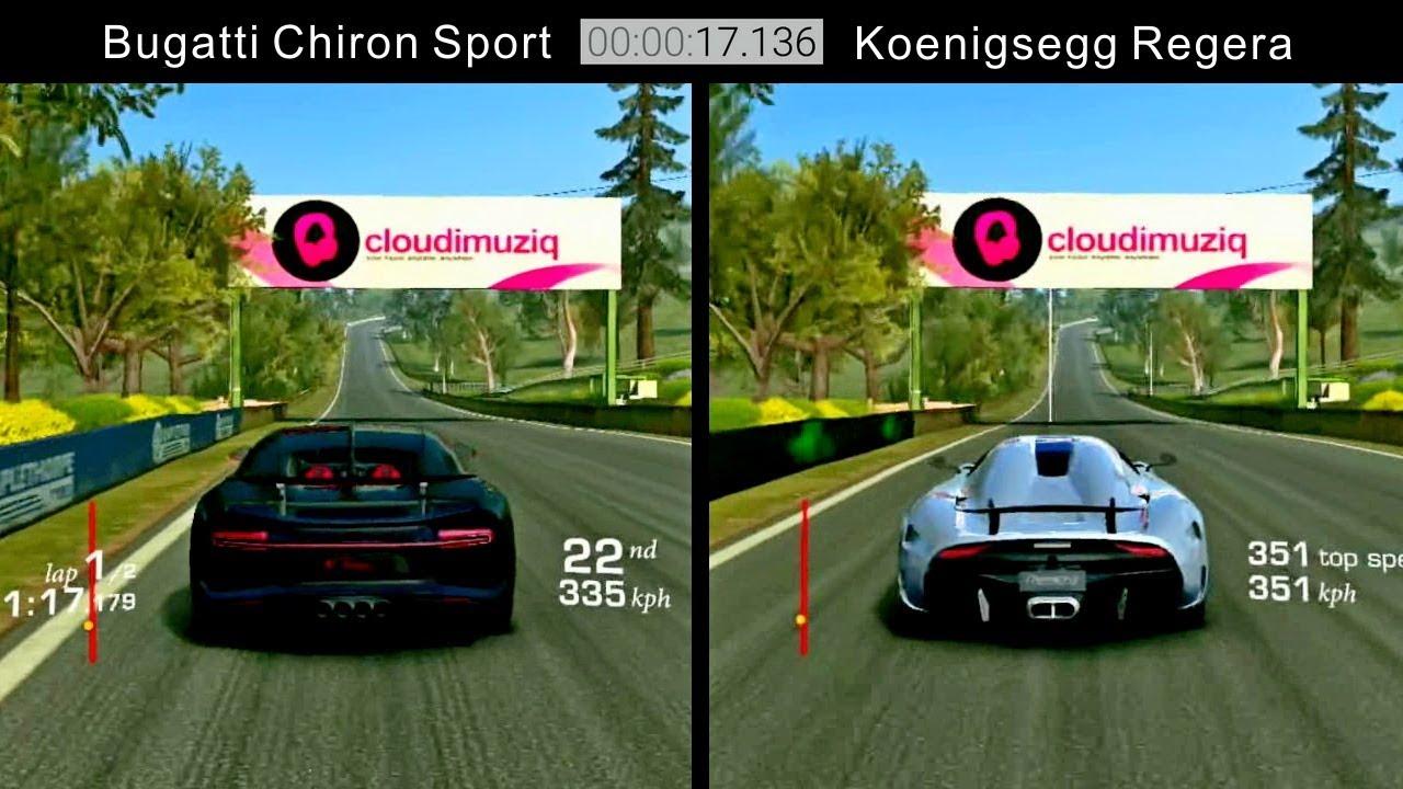 real racing 3 bugatti chiron sport vs koenigsegg regera updated youtube
