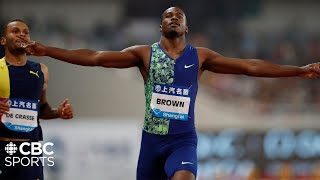 Aaron Brown beats Andre De Grasse in Men's 200m in Shanghai | IAAF Diamond League 2019| CBC Sports