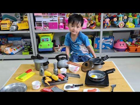 Tin và Anh Hai mở bộ chơi nấu ăn 36 món Kitchen ❤ Đồ chơi trẻ em Tin Siêu Còi ❤