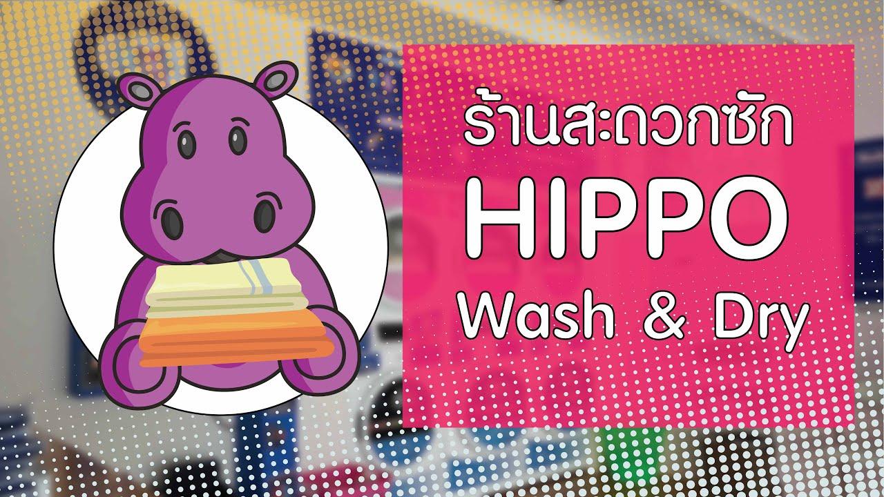 ร้าน Hippo Wash&Dry | ร้านสะดวกซัก | By The M Soul
