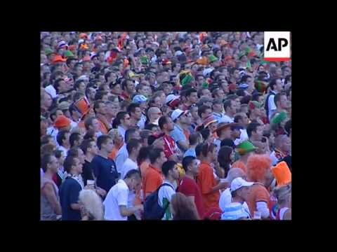 Fans watch Portugal and Netherlands in second round