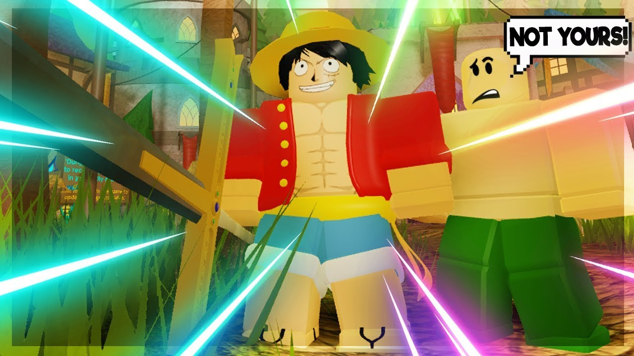 luffy face roblox Thats Not Yours Luffy Sama All Hail Emperor Straw Hat Dungeon Quest Roblox Youtube