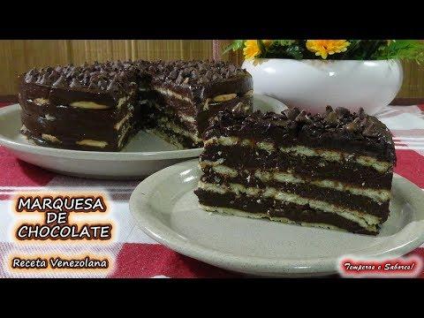 MARQUESA DE CHOCOLATE, receta Venezolana delirio de sabor