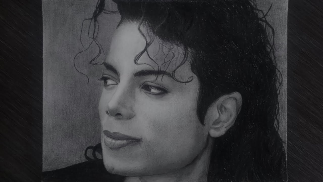 Drawing Michael Jackson pencil :) - YouTube