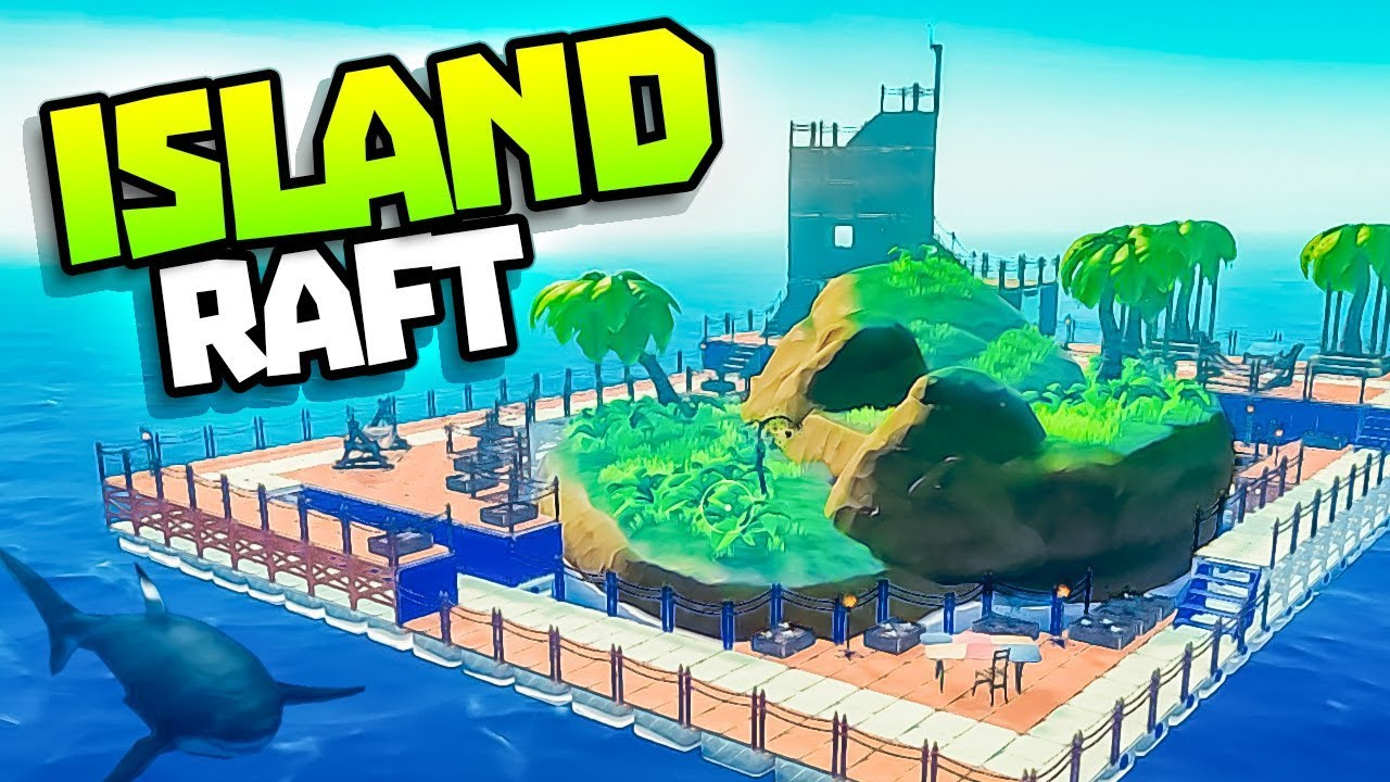ISLAND INSIDE HUGE RAFT! - Raft Update! - Raft Steam Release Gameplay