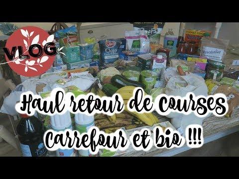 388 VLOG FAMILLE | HAUL RETOUR DE COURSES CARREFOUR ET BIO !!! ♥