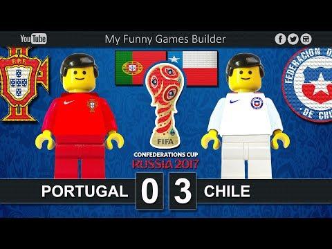 Portugal vs Chile 0-3 • Semi-finals Confederations Cup Russia 2017 • 28/06/2017 • Lego Football Film