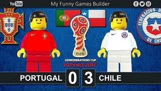Portugal vs Chile 0-3 • Semi-finals Confederations Cup Russia 2017 • 28/06/2017 • Lego Football Film