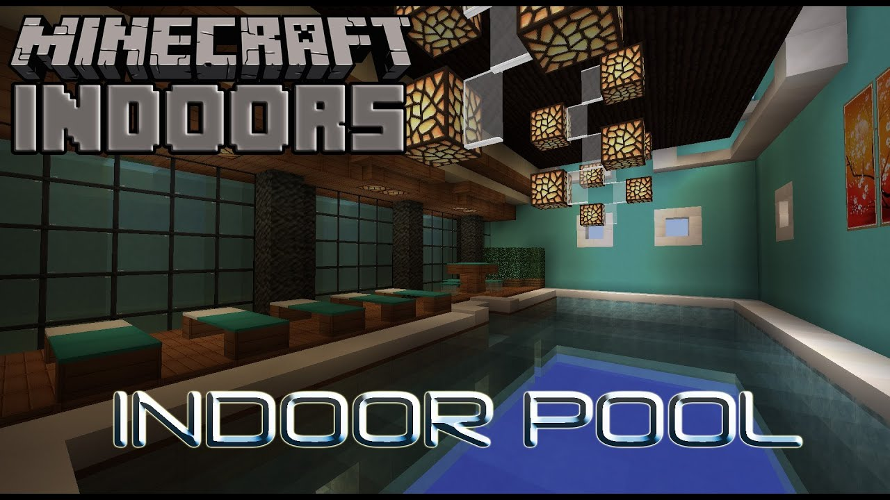 Sumptuous Indoor Pool Minecraft Indoors Interior Design Youtube