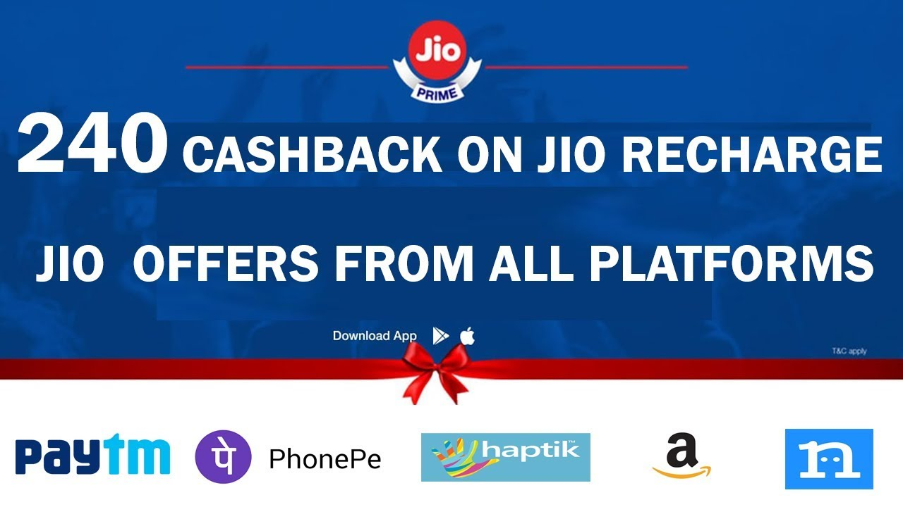 Best Jio Recharge Cashback Offers from all Platforms !! Trick to get 240  cashback on 399+ Recharge !