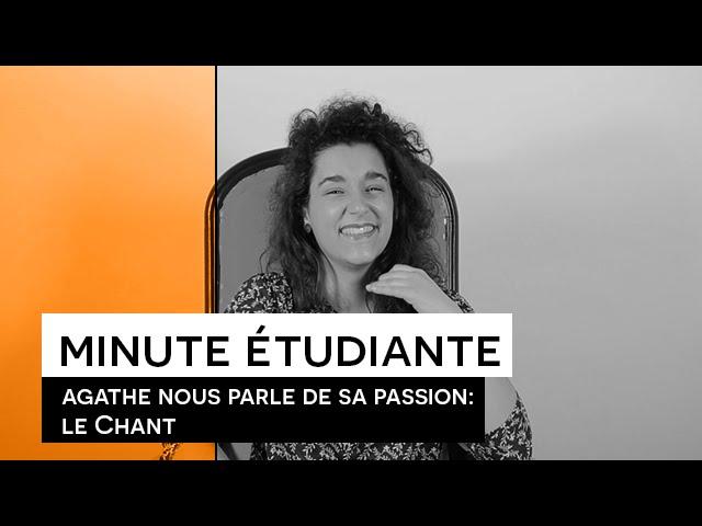 La minute étudiante - Agathe [chanteuse]