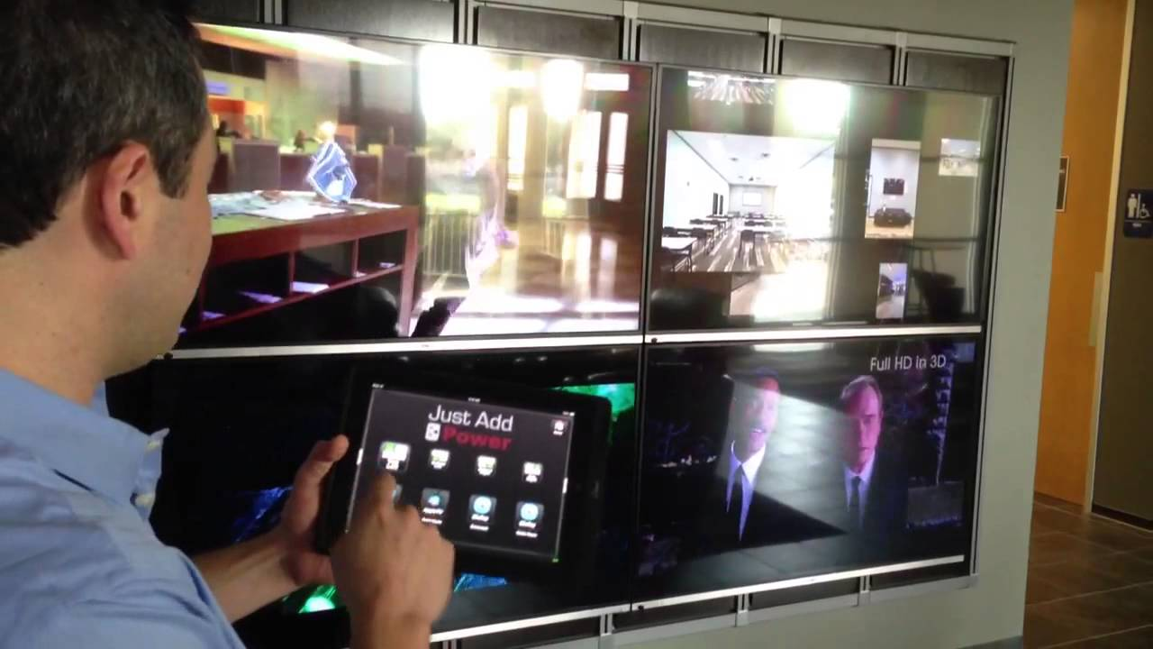 Just add power video wall controlled by on controls youtube