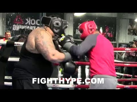 MIKEY GARCIA LIGHTS UP 300-POUND BEHEMOTH IN SPARRING; DOESN'T LAST 2 ROUNDS