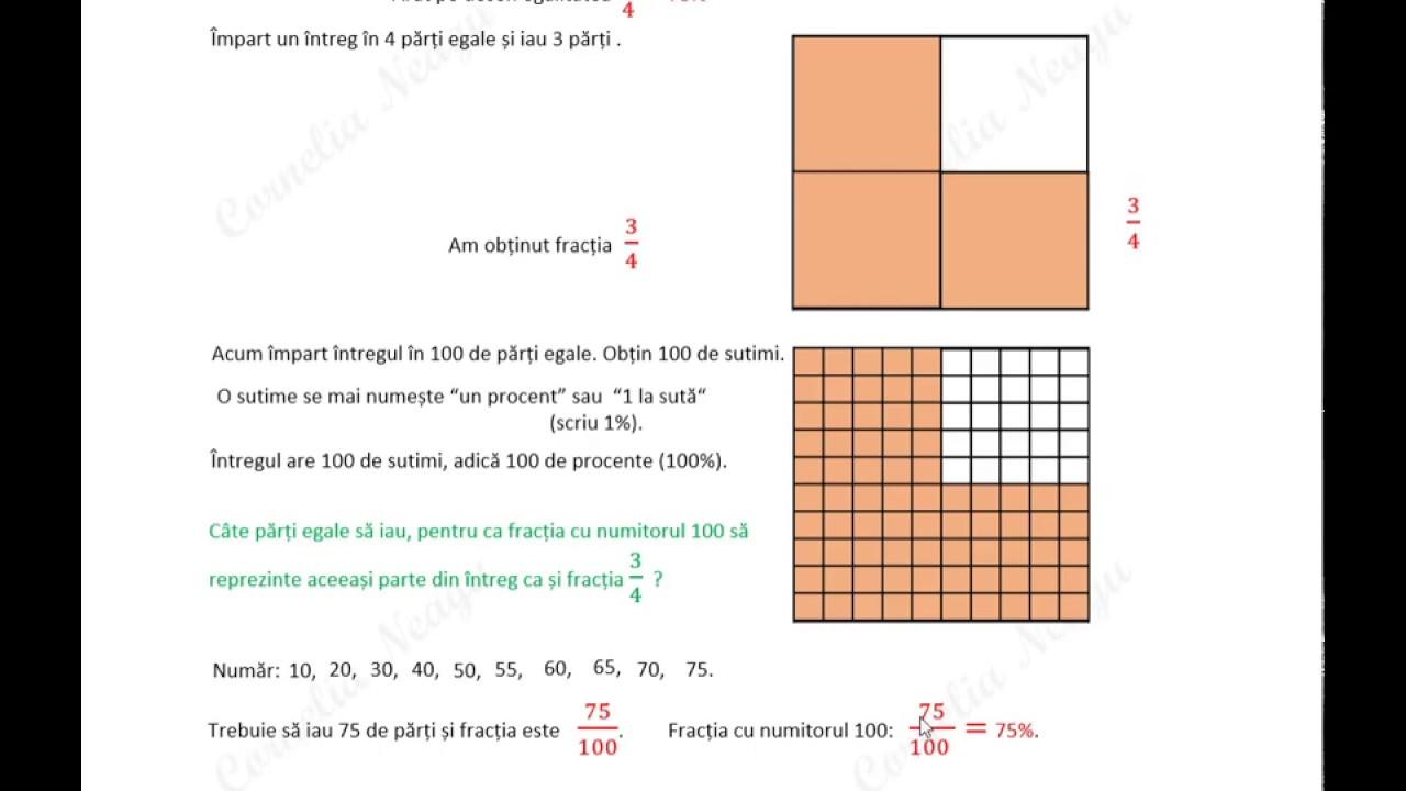 Cum rezolv orice problemă de matematică în 4 pași. Cum aflu p% dintr-un întreg. Nivelul 1 din 4