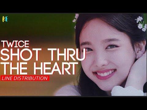 TWICE(트와이스) - Shot Thru The Heart | Line Distribution