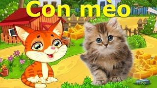 Các con vật cho bé   em học nói động vật Tiếng Việt   tiếng kêu Chó Mèo   Dạy trẻ thông minh sớm