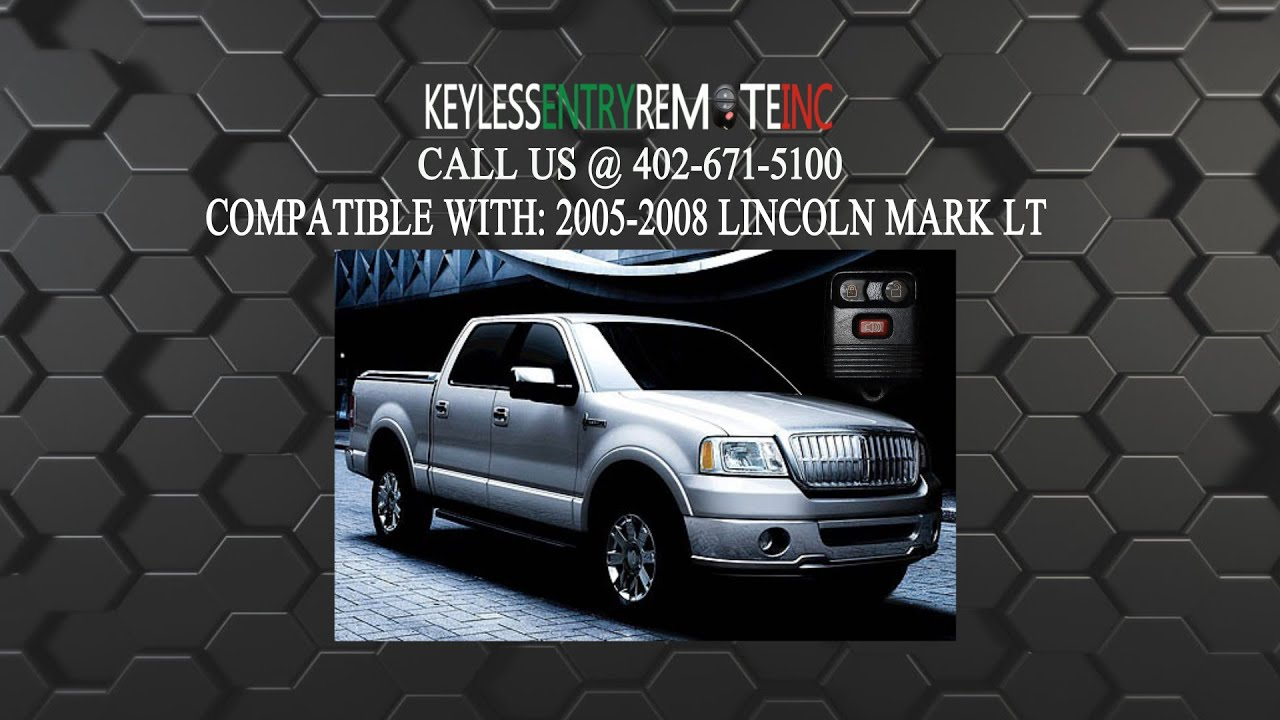 How To Replace Lincoln Mark Lt Key Fob Battery 2005 2006 2007 2008