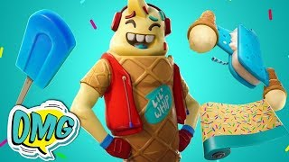 Fortnite: Lil Whip Skin- Ice Cream Cruiser - Ice Pop - Sprinkles!!! - New!!!