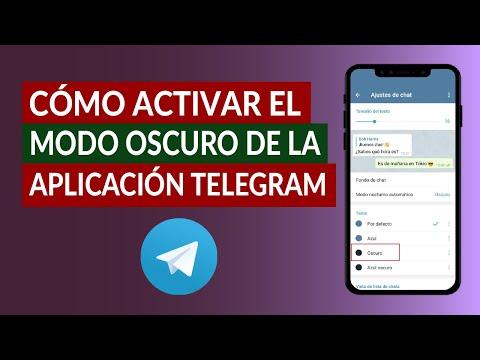 Cómo Activar el Modo Oscuro de la Aplicación Telegram