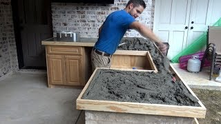 GREAT WAY TO MAKE CONCRETE COUNTER TOPS