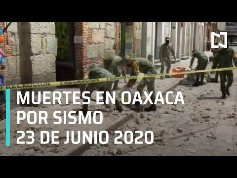 Muertes en Oaxaca por Sismo en México 23 Junio 2020 - En Punto
