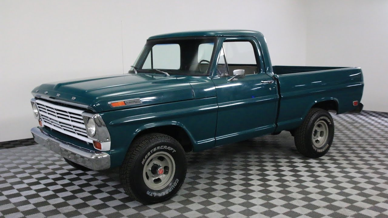 1968 ford f100 green