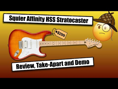 2021 Squier Affinity FMT HSS Stratocaster  Review, TakeApart, Demo