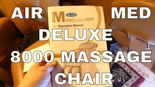 Air Med Delux 8000 Massage Chair - Taking Off the Arm, Folding and Diagnosing Issues Not Working