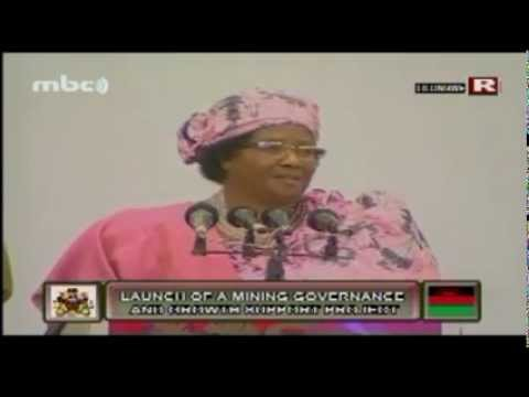 Joyce Banda Speech at Launch of the Mining Governance & Support Project, 22 Jan 2013