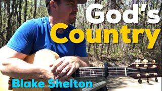 God's Country | Blake Shelton | Beginner Guitar Lesson Video