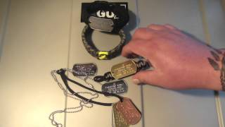 Tagged Paracord Survival Gear Military Dog Tag 550 Paracord