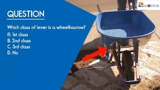 Which class of lever is a wheelbarrow?
