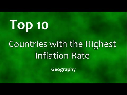 Top 10: Countries with the Highest Inflation Rate