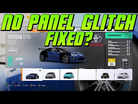 They FIXED THIS GLITCH! Forza Horizon 3 NO PANELS GLITCH FIXED? And DRAG RACES!