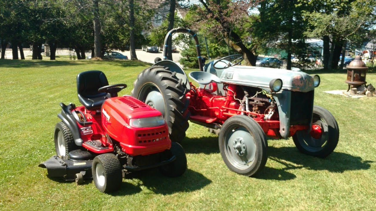 Ford 8n Farm Tractor Vs Mtd Yard Machines 24hp Garden Tractor