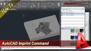 Autocad Tutorial Create Multiple Face With Imprint Command