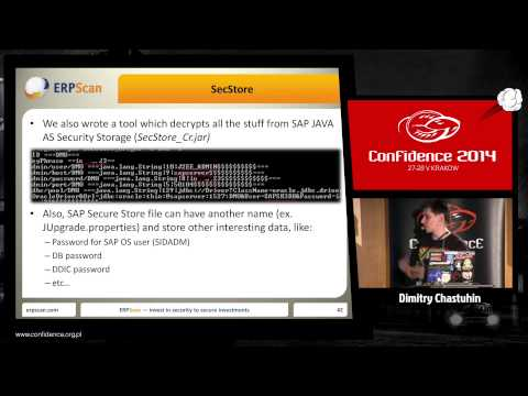 CONFidence 2014: All your SAP P@$$w0ЯdZ belong to us - Dimitry Chastuhin