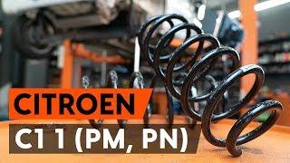 Ako vymeniť zadný pružina zavesenia kolies na CITROEN C1 (PM, PN)[NÁVOD AUTODOC]