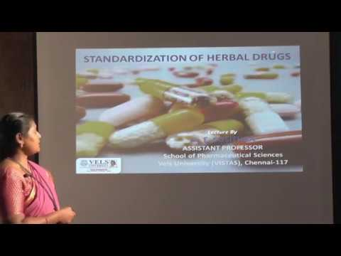Standardization of Herbal Drugs by Dr. E. Susithra
