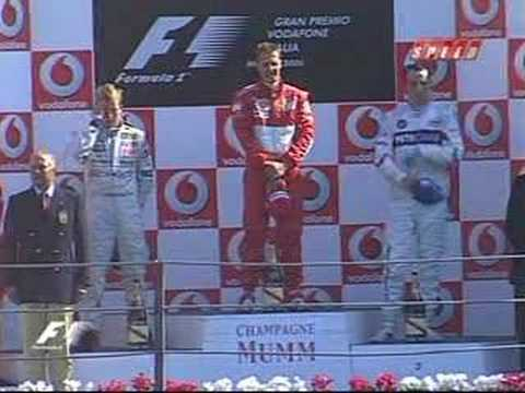Podium Celebration in Monza 2006