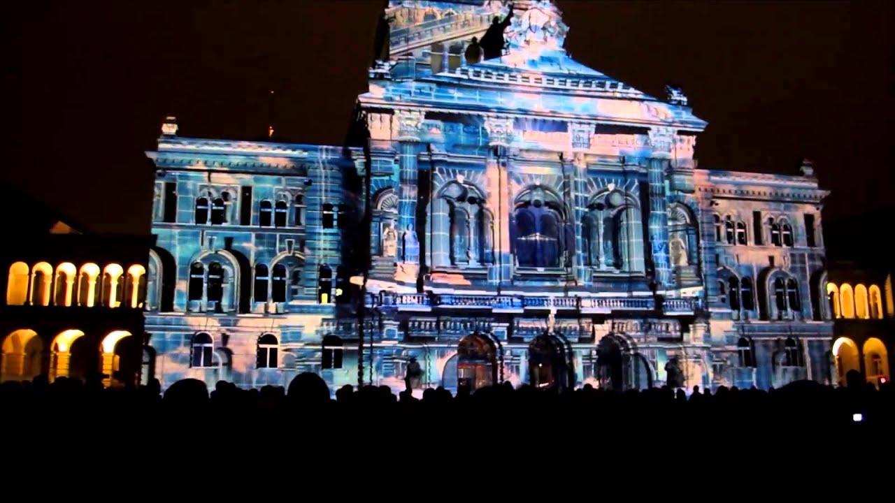 Bundeshaus Licht show - YouTube