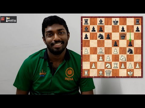 Adhiban shows how to crush the Italian with black pieces! | Tournament of Peace 2018