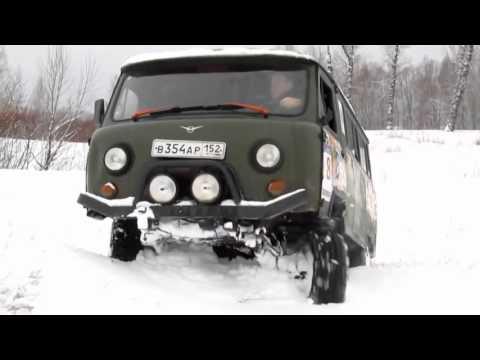 УАЗ Буханка по снегу