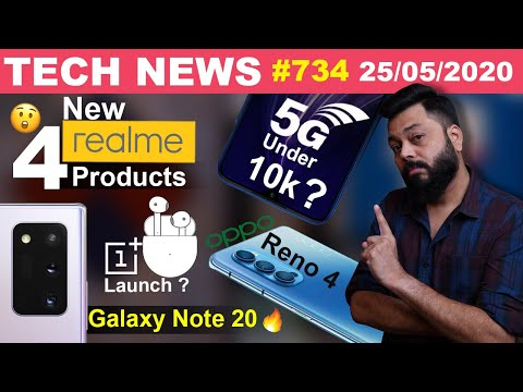 4 New Realme Products,5G Smartphone Under 10K,OnePlus Buds Launch,OPPO Reno 4,Galaxy Note 20-#TTN734