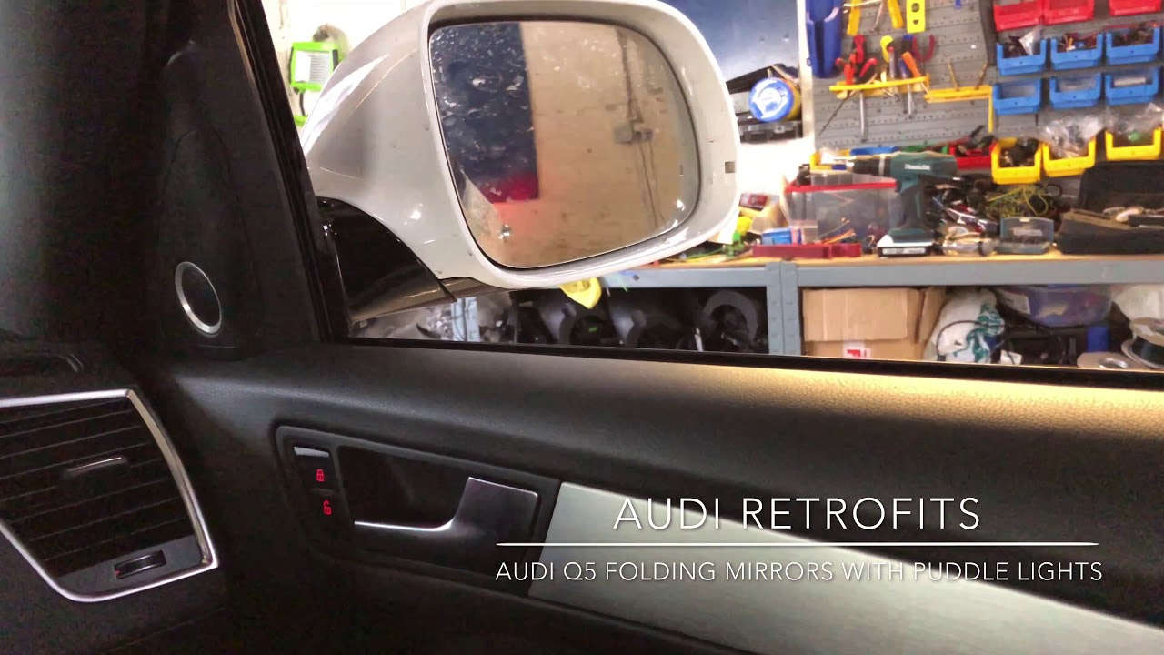Audi Q5 Power Folding Mirrors With Exterior Puddle Lights